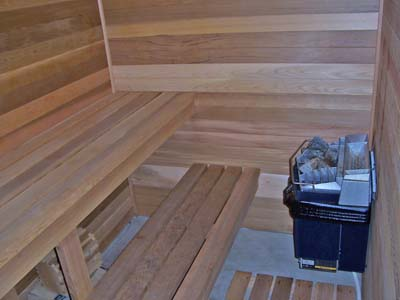 Sauna downstairs.