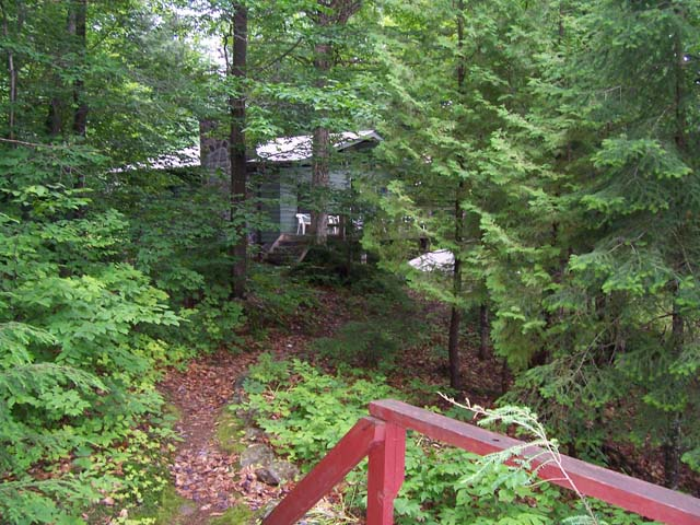 View of main cottage from Bunkie.