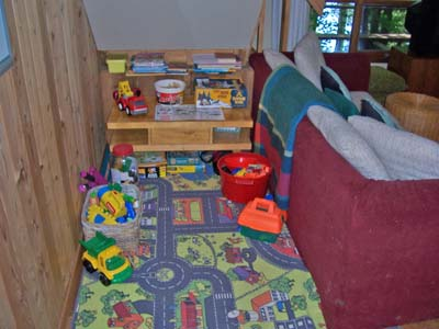 Children's play corner.
