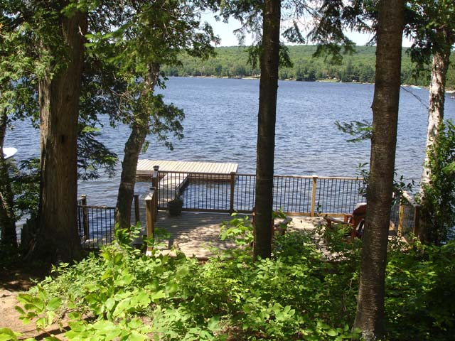 View of lake from the deck.