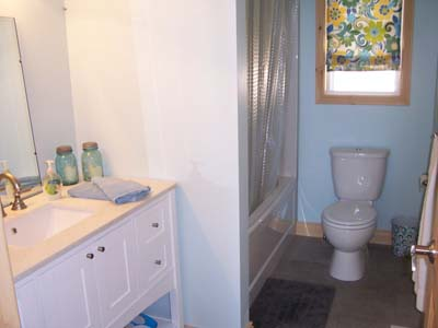 Main floor bathroom.