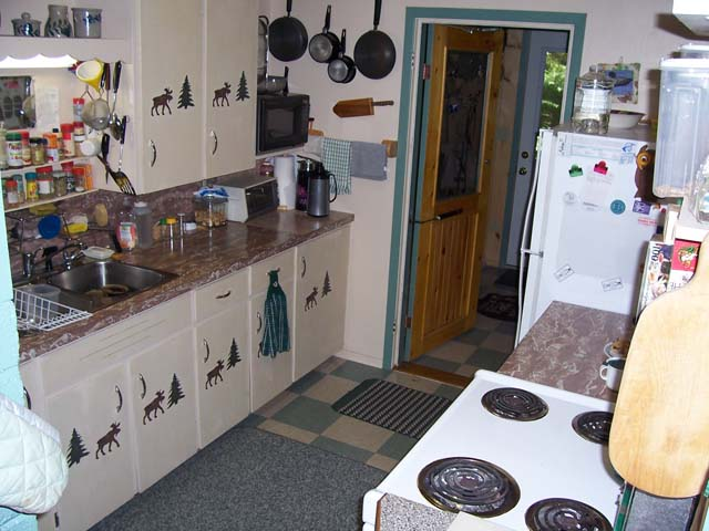Kitchen is small but very functional.