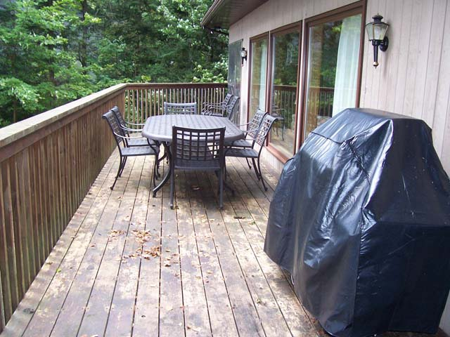 Deck picture taken in the Fall.