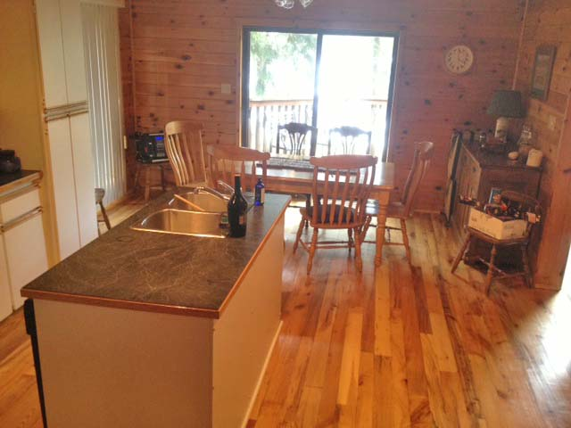 Kitchen floors have been refinished in wood in 2013.