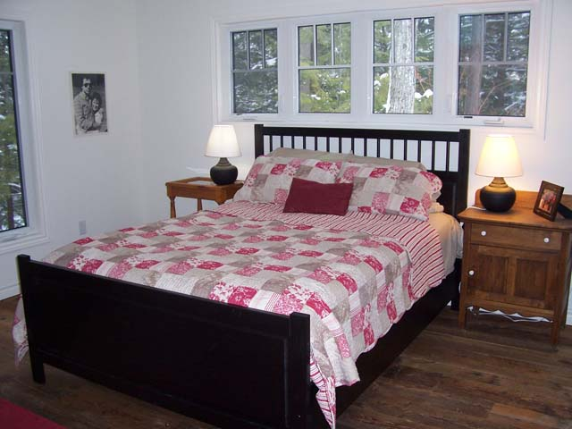 Master bedroom is situated on the main floor with an ensuite bathroom.