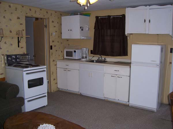 Bunkie has a full kitchen.