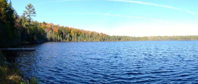 Panoramic view of the lake.