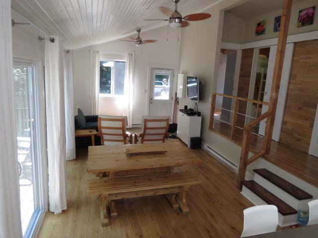 Living/dining areas are open concept.