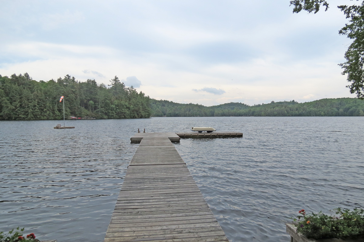 Large dock with lakeside deck