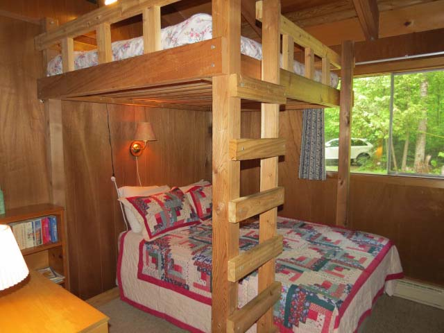 Bedroom #3 has 2 double beds made into bunks.