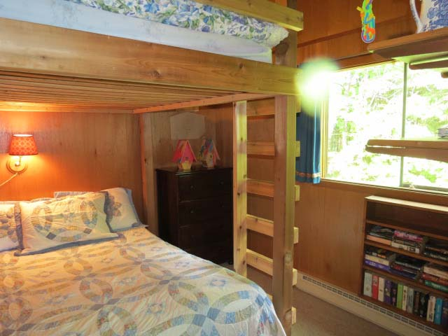 Bedroom #2 has double sized beds made into bunks.
