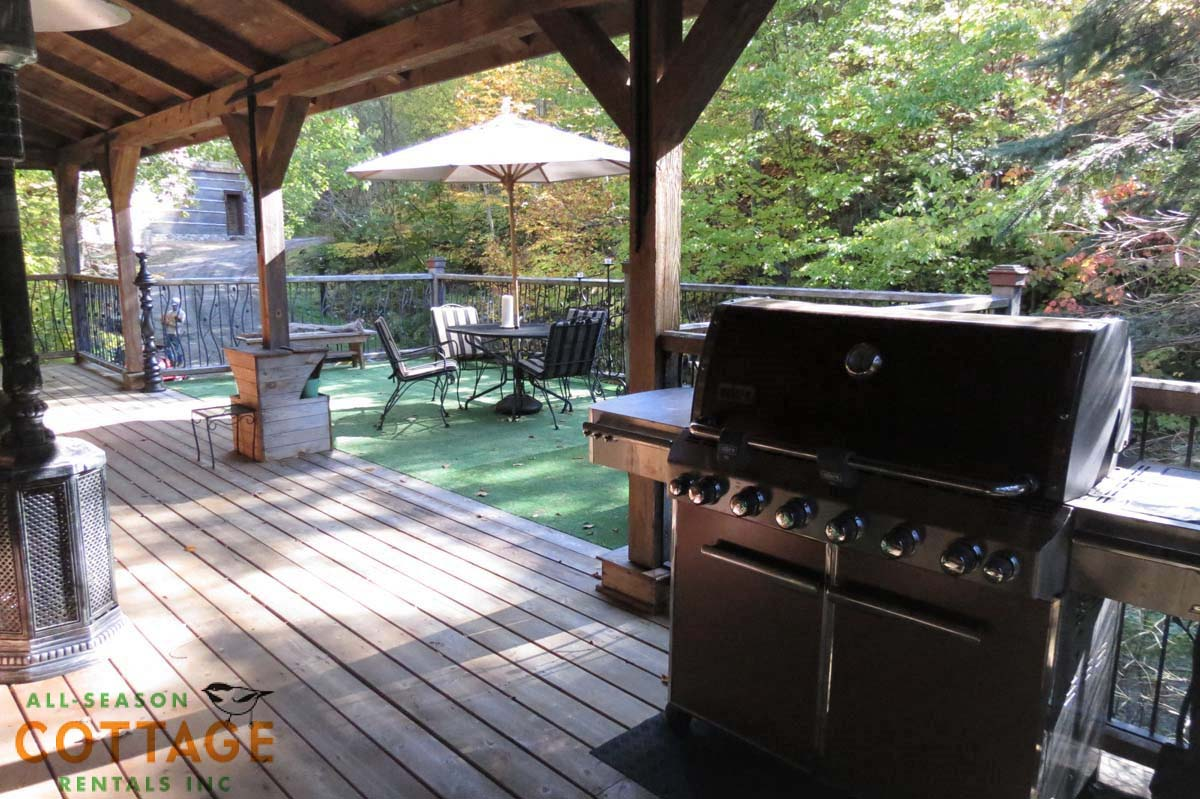 BBQ and patio area