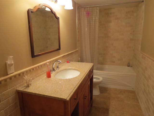 Bathroom situated on main level.
