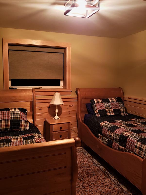 Bedroom #5 has two Twin beds and is located downstairs