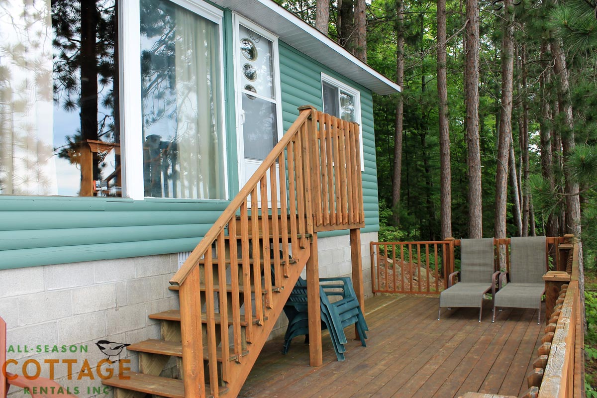Great deck, only steps from the water!