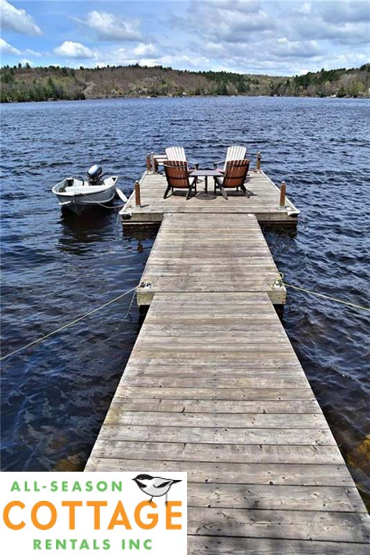Clean, weed-free deep water swimming off dock