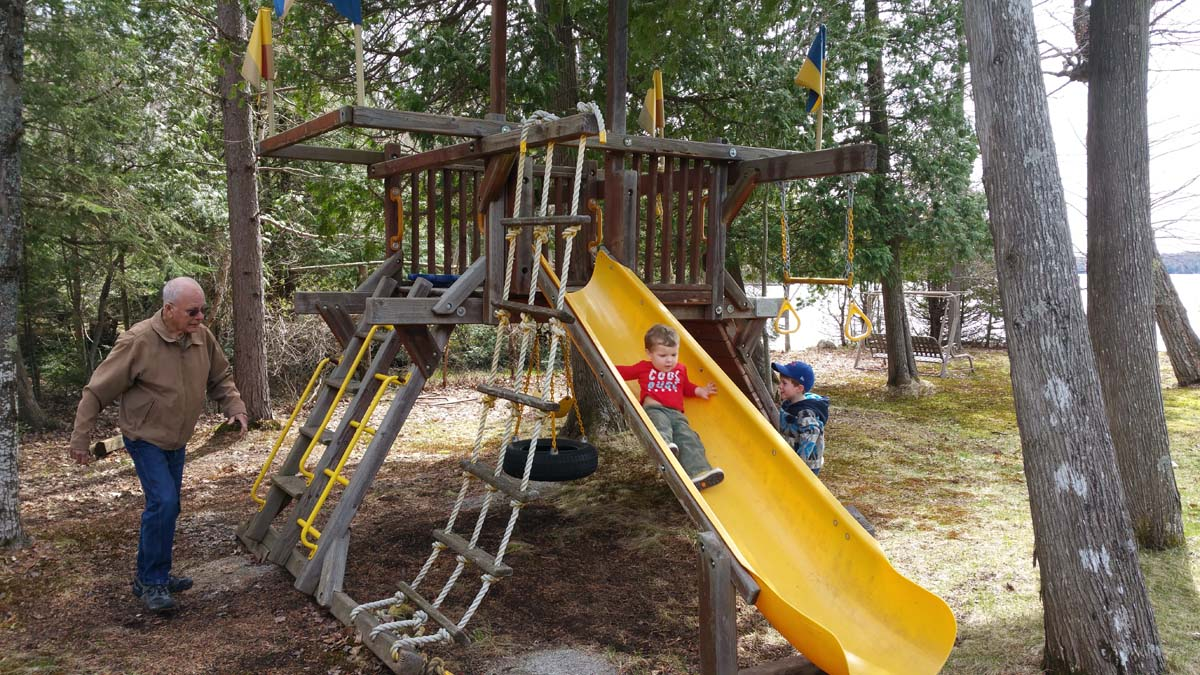This is the new kids playset that was recently installed