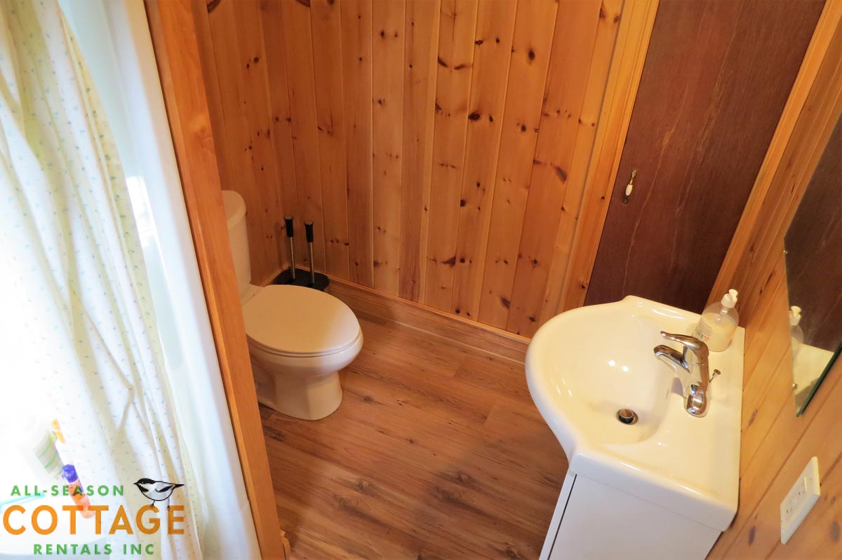 3 PC washroom on main floor of cottage