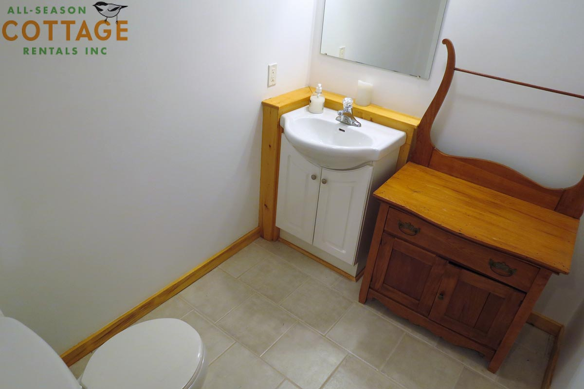 2 PC washroom is located downstairs