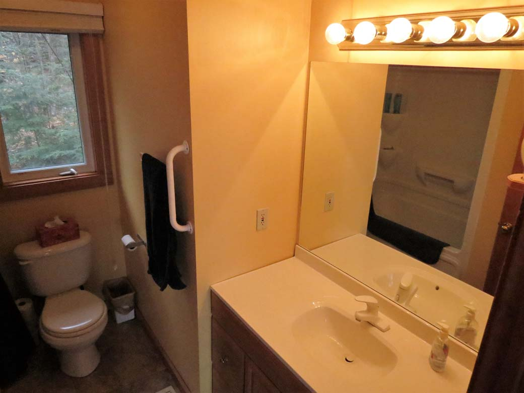 The second 4 pc washroom is located on the main floor of the cottage.