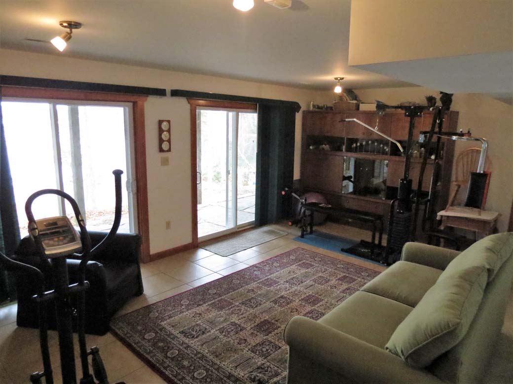 Downstairs living room is a great place for the kids to hang out.  There is also a weight machine and elliptical.