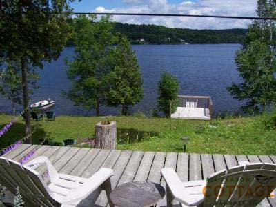 View of lake from deck.