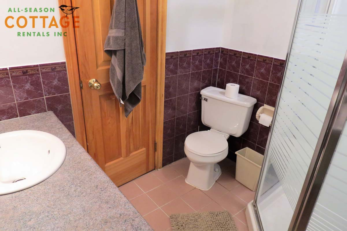 Washroom #2 is located downstairs and has a shower