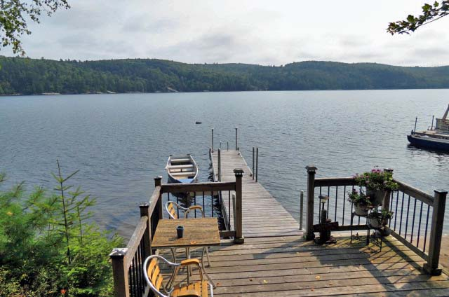 Lakeside deck and dock