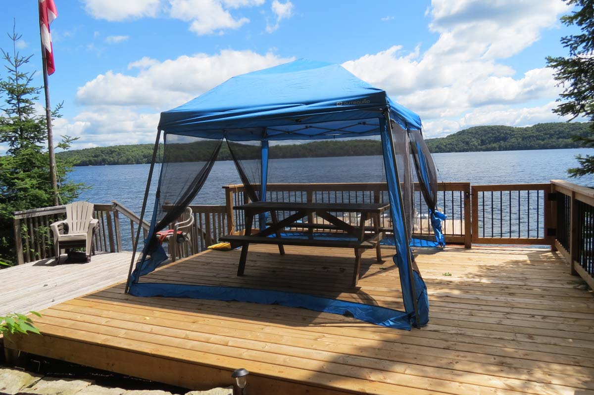Lakeside deck (please note gazebo is no longer available)