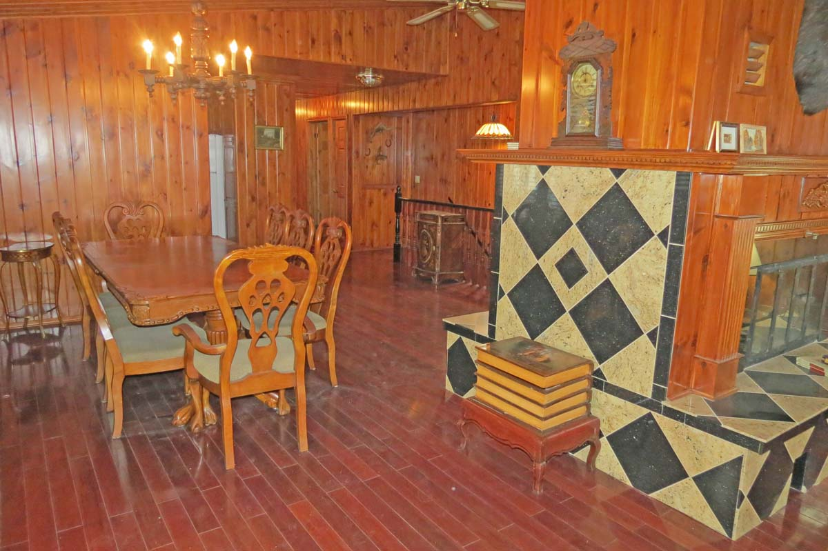 Main floor dining area