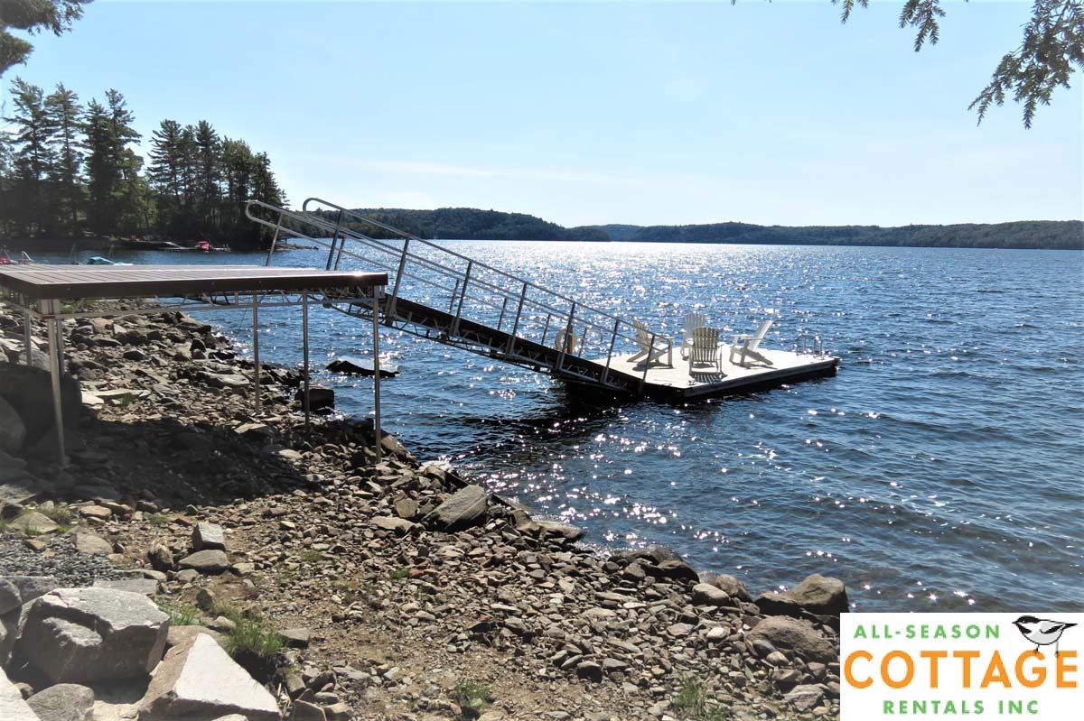 The new dock (seen here during the fall when water levels are very low).