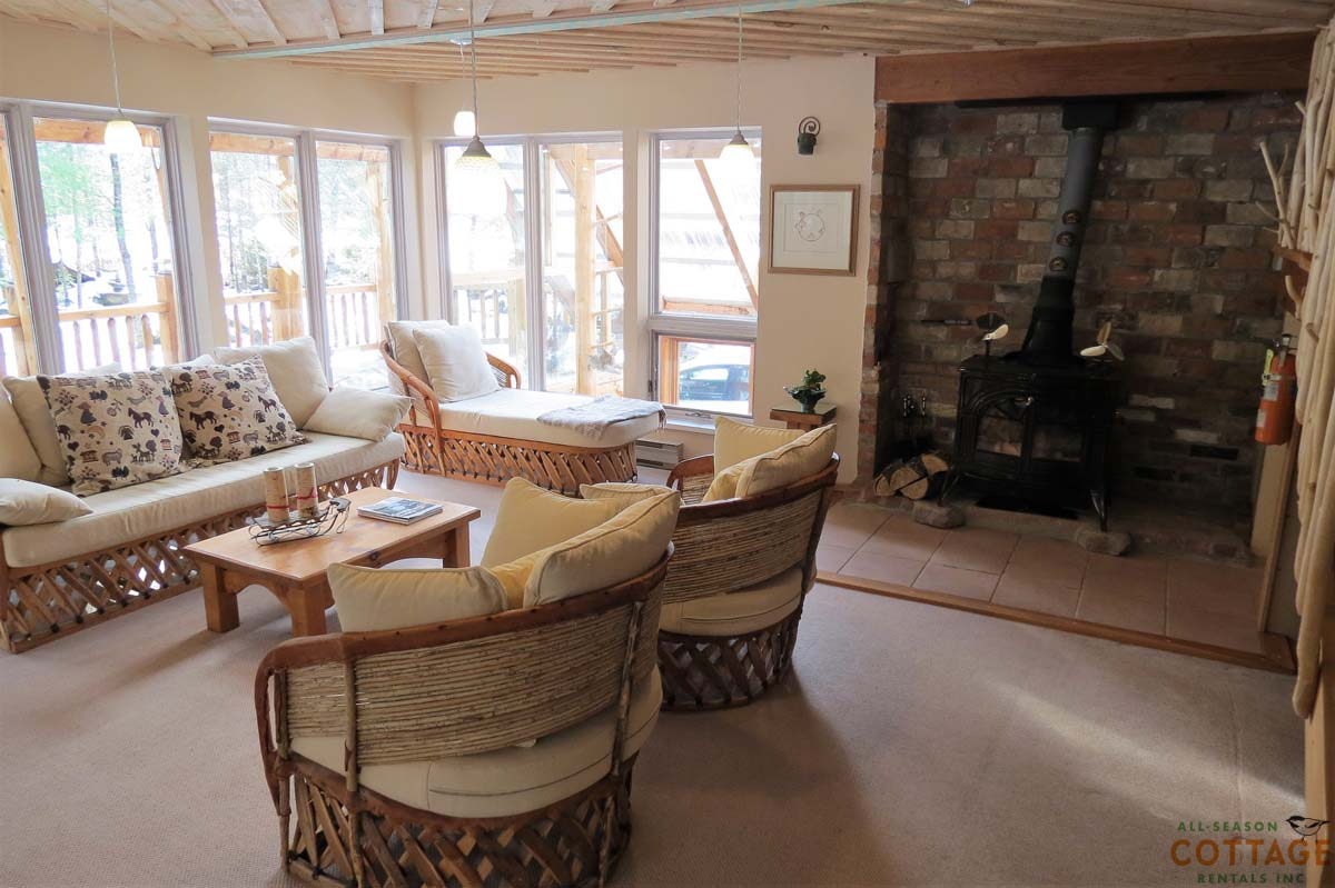Enjoy some time by the woodstove after a day on the slopes