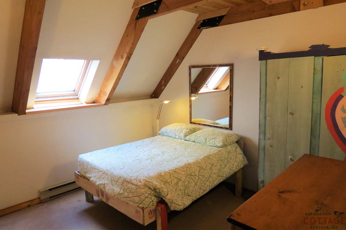 Bedroom #3 is on upper floor with a double bed