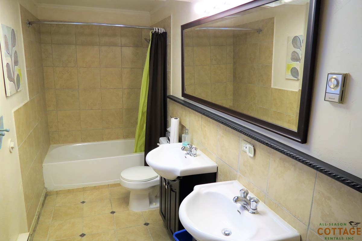 Large 4 PC washroom downstairs