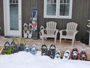 Snowshoes for renters